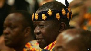 King Otumfuo Osei Tutu II, ruler of the Ashanti people in Ghana.