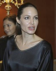 Angelina Jolie, in her role as special envoy for the UN refugee agency,  speaks during a meeting with Turkey Interior Minister Idris Naim Sahin, unseen, in Ankara, Turkey, Friday,  Sept. 14, 2012.