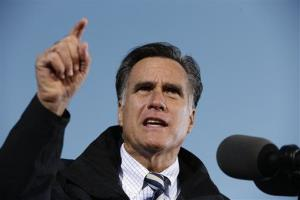 Mitt Romney campaigns in Lancaster, Ohio, in this file photo.