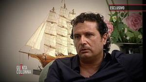 In this frame grab released Tuesday, July 10, 2012, Francesco Schettinois seen during an exclusive interview with the Quinta Colonna program.