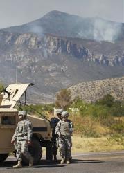National Guard Troops near Sierra Vista,  Ariz.