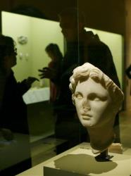 A marble statue from Egpyt of Alexander the Great, dating back to approximately 300 BC, is seen at the Louvre in this file photo.