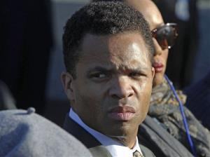 In this Oct. 16, 2011, file photo, Rep. Jesse Jackson Jr., D-Ill., is seen during the dedication of the Martin Luther King Jr. Memorial in Washington.