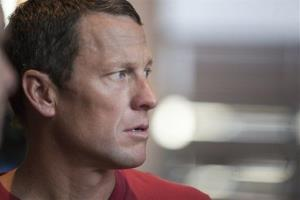 This Feb. 15, 2011 file photo shows US cyclist Lance Armstrong during an interview in Austin, Texas.