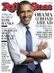 This image released by Rolling Stone shows the cover of the magazine's Nov. 8, 2012 issue featuring President Barack Obama that hits newsstands today.