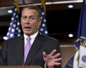 In this Sept. 21, 2012 file photo, House Speaker John Boehner of Ohio gestures during a news conference on Capitol Hill in Washington.