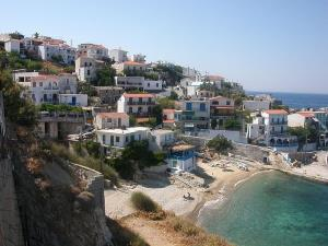 The village of Armenistis in northern Ikaria.