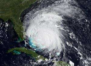 An image provided by NOAA, made by the GOES-East satellite, shows Hurricane Irene as it nears the East coast Wednesday Aug. 25, 2011.