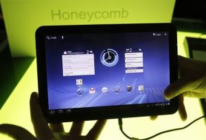 In this 2011 file photo, a Motorola Mobility Xoom tablet is shown at Google headquarters in Mountain View, Calif.