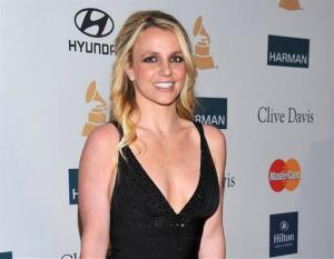 Britney Spears arrives at a Grammy party in February.