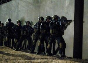 A still from SEAL Team Six: The Raid on Osama bin Laden, airing tonight at 8pm EST on National Geographic.