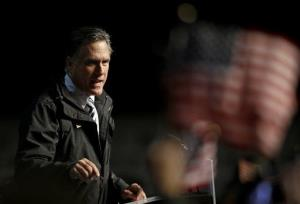 Mitt Romney speaks during a campaign event at the Newport News International Airport, Sunday, Nov. 4, 2012, in Newport News, VA.