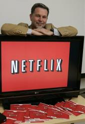 Netflix CEO Reed Hastings poses for a photo at Netflix headquarters in Los Gatos, Calif.