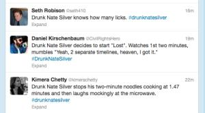Some Drunk Nate Silver tweets.