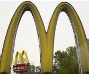 This 2011 file photo shows the golden arches of McDonalds, in Omaha, Neb.