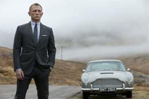 This film image released by Columbia Pictures shows Daniel Craig as James Bond in the action adventure film Skyfall.