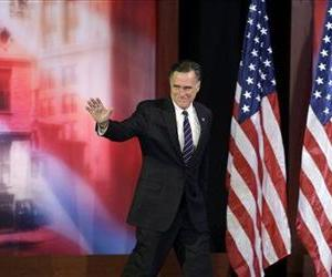 Mitt Romney waves to supporters before conceding the race during his election night rally, Nov. 7, 2012, in Boston.