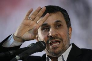 In this June 2, 2012 photo, Iranian President Mahmoud Ahmadinejad gestures as he delivers a speech.