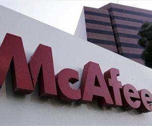 The exterior of security software maker McAfee Inc. headquarters is shown in Santa Clara, Calif., Tuesday, Oct. 30, 2007.