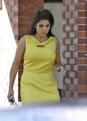 Jill Kelley leaves her home Monday, Nov 12, 2012 in Tampa, Fla. Kelley is identified as the woman who allegedly received harassing emails from Gen. David Petraeus' paramour, Paula Broadwell.
