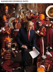 Donald Trump photographed by Mark Seliger, inspired by Macy's Thanksgiving Day Parade.