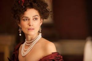 This film image released by Focus Features shows Keira Knightley in a scene from Anna Karenina.