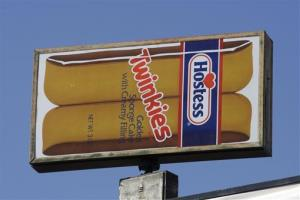 A Hostess Twinkies sign is shown at the Utah Hostess plant in Ogden, Utah, in this Nov. 15, 2012 file photo.