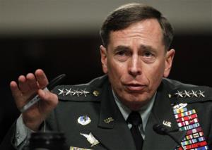 In a file photo, Gen. David Petraeus testifies before the Senate Armed Services Committee on Capitol Hill in Washington.