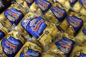 Twinkies are displayed for sale at the Hostess bakery in Denver, Colo. on Friday.