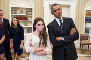McKayla Maroney and President Obama are not impressed.