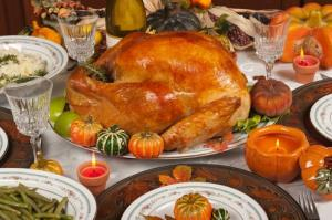 Thanksgiving dinner: fattening, but not actually 4,500 calories.
