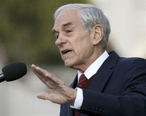 In this April 5, 2012 file photo, Rep. Ron Paul, R-Texas speaks at the University of California at Berkeley, Calif.