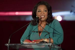 In this March 9, 2012 file photo, Oprah Winfrey speaks at the United Nations in New York.