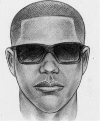This sketch released by the New York Police Department shows another man who is being sought in connection with the fatal shooting of shopkeeper Isaac Kadare.