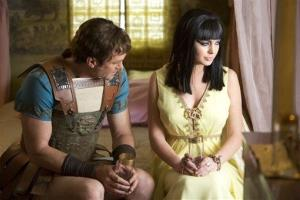 This publicity image released by Lifetime shows Grant Bowler as Richard Burton, left, and Lindsay Lohan as Elizabeth Taylor in the Lifetime Original Movie, Liz & Dick.