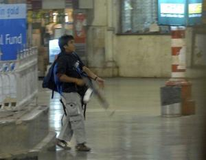 Ajmal Kasab is seen in Mumbai's Chatrapathi Sivaji Terminal railway station during the 2008 attack.