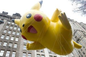 FILE - This Nov. 26, 2009 file photo shows the Pikachu Pokemon balloon floating down Central Park West during the Macy's Thanksgiving Day Parade in New York.
