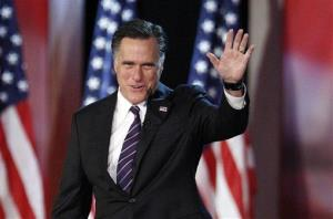 Mitt Romney concedes at the Boston Convention Center.