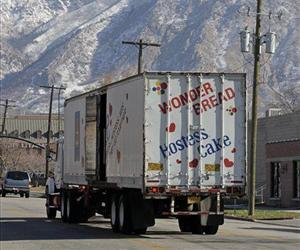 A Hostess Wonder Bread truck is parked in front of the Utah Hostess plant in Ogden, Utah, Thursday, Nov. 15, 2012.
