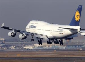 File photo of a Lufthansa Boeing 747.