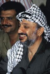 This photo shows Yasser Arafat, right, in 1981.