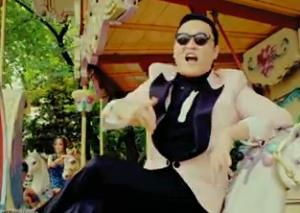 Psy in his Gangnam Style video.