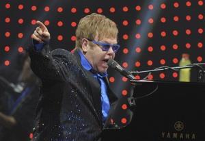 Pop icon Elton John performs in Beijing Sunday night.