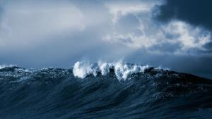 Stock image of waves.