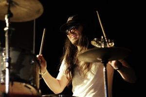 Andrew WK plays drums during South by Southwest in Austin, Texas, earlier this year.