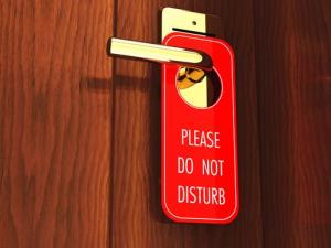 File photo of a hotel room door.