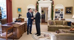 Mitt Romney meets with President Obama.