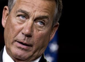 House Speaker John Boehner speaks to reporters on Capitol Hill  Thursday.