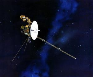 This artists rendering provided by NASA shows the Voyager spacecraft.