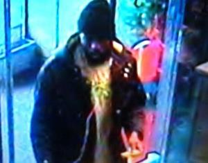 Authorities have released this surveillance camera image of the suspected attacker.